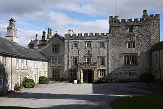 Sizergh Castle and Garden - Sizergh Castle, pele tower and Tudor house