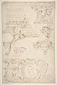 Sketches of Sculptured Decoration. Entablatures and a Frieze with Human, Animal and Floral Ornaments MET DP810676.jpg