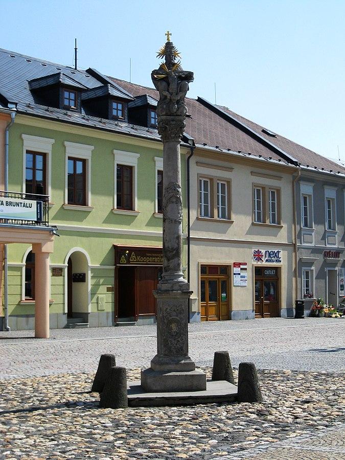 Holy Trinity column in Bruntál