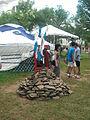 Smithsonian Folklife Festival 2013 - rock pile (Tuvan area).JPG