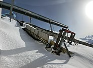 Snow chute Weissfluhjoch