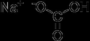 Acid salt - Structure of sodium bicarbonate