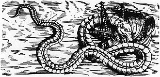 Sea serpent - Olaus Magnus's Sea Orm, 1555