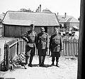 Soldier, tableau, yard, lath fence, carriage Fortepan 7205.jpg