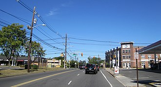 Somerset, New Jersey - Somerset at the intersection of Franklin Boulevard (CR 617) and Hamilton Avenue (CR 514)