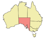 Map showing location of South Australia in Australia