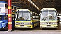 Southend Transport coaches 502 (YHB 20T) and 505 (BTE 205V) Leyland Leopard.jpg