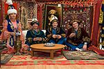 Soyuz MS-02 backup crew during a traditional Kazakh meal.jpg