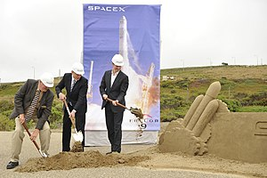 Falcon Heavy - Image: Space X breaks ground at Vandenberg Air Force Base