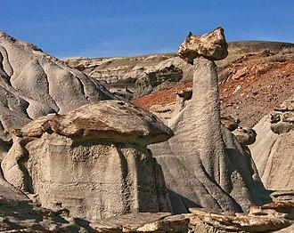 Bisti/De-Na-Zin Wilderness - Sphinx(?) in Bisti Badlands