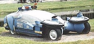 "Blade Runner - A ""spinner"" (police variant) on display at Disney-MGM Studios in 2006"