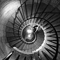 Spiral staircase, Camden Fort Meagher.JPG