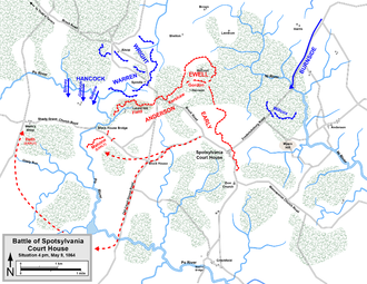 Battle Of Spotsylvania Court House Wikipedia - Appomattox court house us map