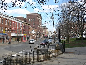 Newton, New Jersey - Spring Street seen from the Newton Town Green