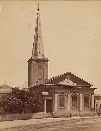 New South Wales Government Architect - St. James Church, Sydney in the 1880s, designed by the first Colonial Architect in the 1820s)