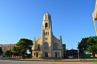 Fort Hays Limestone Member - Image: St Josephs Church and Parochial School