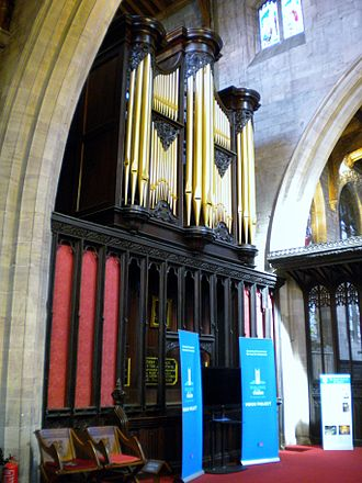 St Laurence's Church, Ludlow - The organ.