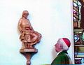 St Mary and Child Christ in situ with Cardinal Hume.jpg