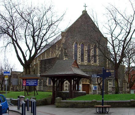 St. Mary's Church in St. Mary's Square St Marys Church Swansea.JPG