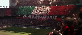 Fossa dei Leoni - A choreography of A.C. Milan's supporters for the 17th national title (2003–04)