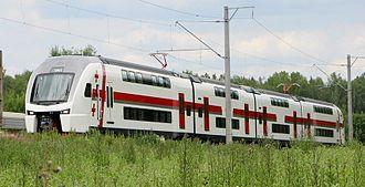 Transport in Georgia (country) - Stadler KISS GRS «Eurasia» passenger train