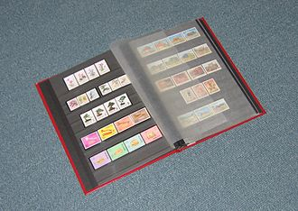 Collecting - Stamp album used for collecting stamps