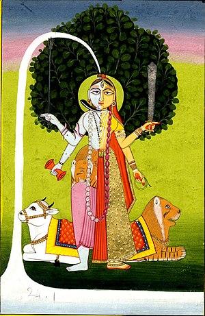 Ardhanarishvara - Image: Standing Ardhanari c.1800