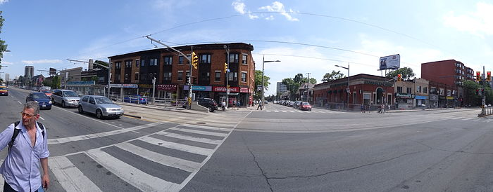 Looking south on Christie Street from St. Clair Avenue