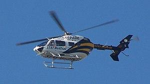STAT Medevac - Stat MedEvac helicopter above the University of Pittsburgh Medical Center