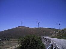 La strada nei pressi del passo di Forca Caruso