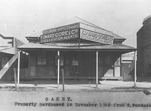 Oakey, Queensland - The National Bank in Oakey in 1916