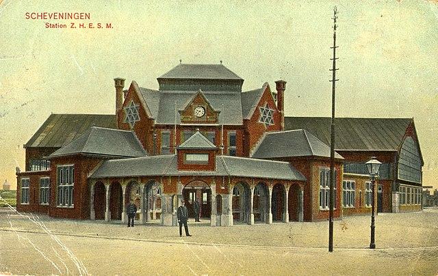 Ansichtkaart van station Kurhaus Schevingen