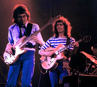 Pat Metheny Group - Left to right: Steve Rodby and Pat Metheny