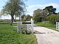 Stile by The Old Manor House at Donnington - geograph.org.uk - 758759.jpg