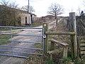 Stile on footpath, near Quarry - geograph.org.uk - 1200224.jpg