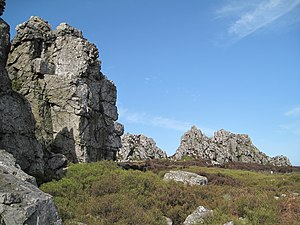 Stiperstones - Shattered Cambrian quartzite at Stiperstones