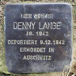Photo of Denny Lange brass plaque