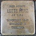 Stolperstein Gießen Neuen Bäue 23 Lotte Herz.JPG