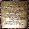 Stolperstein In de Bost 39 (Otto Hübener) in Hamburg-Nienstedten.JPG