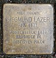 Stolperstein Remscheid Neustraße 3 Siegmund Lazer.jpg