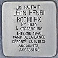 Stolperstein für Leon Henri Kociolek (Bordeaux).jpg