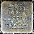 Stolpersteine Amsterdam, Elisabeth de Leeuw (Nieuwe Uilenburgerstraat 72).jpg