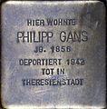 Stolpersteine Köln, Philipp Gans (Stephanstraße 6).jpg