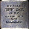 Stumbling block for Philipp Gans (Stephanstraße 6)
