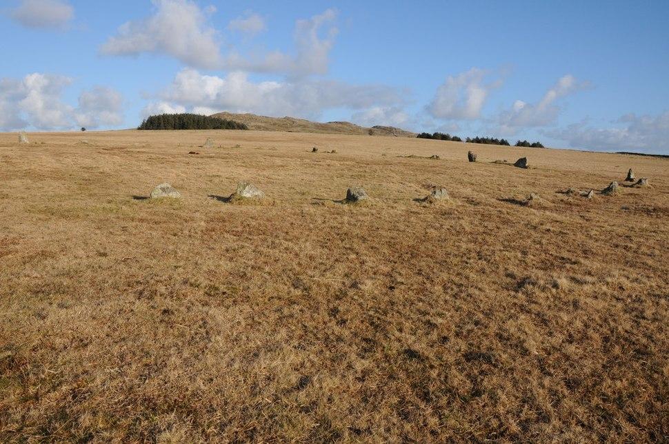 Stone circle near Rough Tor - geograph.org.uk - 2820042