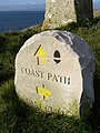 Stone sign, Portland Coast Path - geograph.org.uk - 1032871.jpg