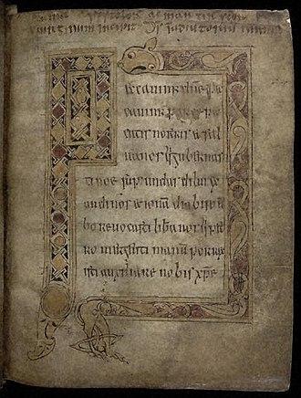 Stowe Missal - Image: Stowe Missal fol. 12 r
