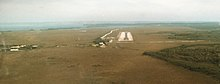 Strahan Airport landing strip from north.JPG