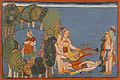 Stricken Rama and Laksman with Sita, in a Grove.jpg