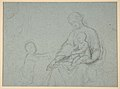 Studies of Two Flying Putti and of Drapery (recto); Seated Virgin and Child, and Kneeling Child (verso) MET DP811532.jpg